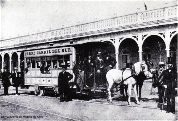 Primer carro de sangre en Santiago, 1857