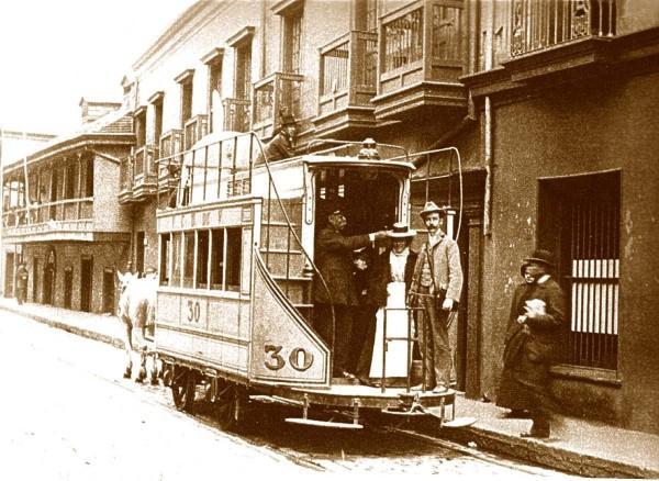 Carro de sangre en Valparaíso, c1900