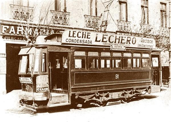 Tranvía línea Victoria-Independencia, c. 1930.