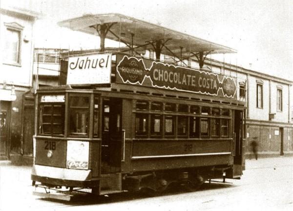 Tranvía con imperial línea Colón-Aduana, c. 1925