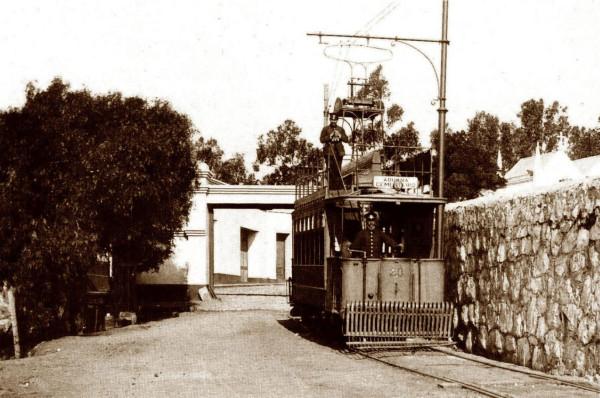 Tranvía línea Aduana-Cementerio, c. 1920.