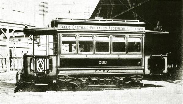 Tranvía línea Portales-Tocornal, c. 1920.