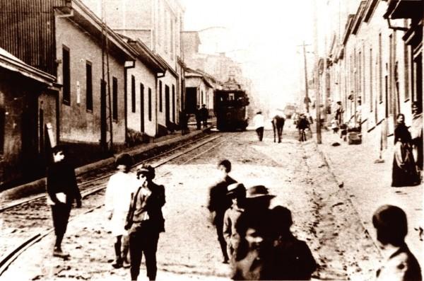 Tranvía línea Portales- Tocornal, c. 1935.