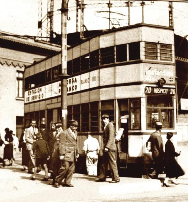 Tranvía belga en sector Barón, c. 1930.