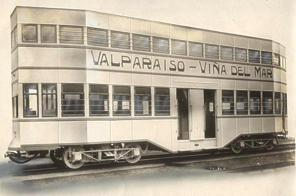 Tranvía belga en Valparaíso, c.1925