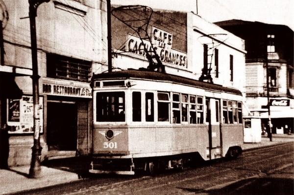 Tranvía belga de la ENT reacondicionado, c. 1950.