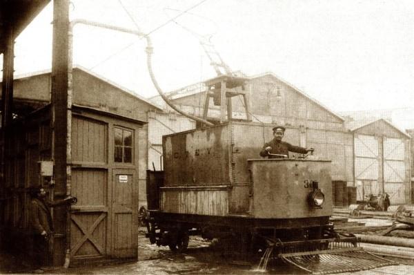 Tranvía remolcador para reparaciones, Valparaíso, c.1930