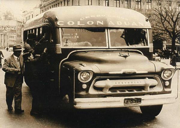 Microbús reccorrido Colón – Aduana, c. 1960.