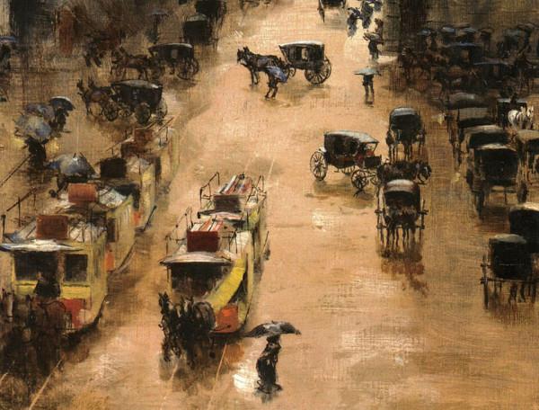 Carros de sangre, c. 1900.