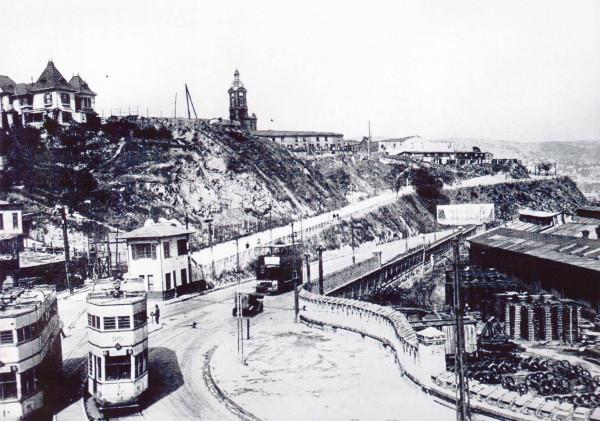 Tranvías en Av. España, c. 1930