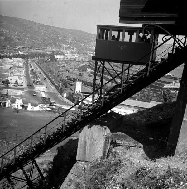 Ascensor del cerro Barón c. 1950.