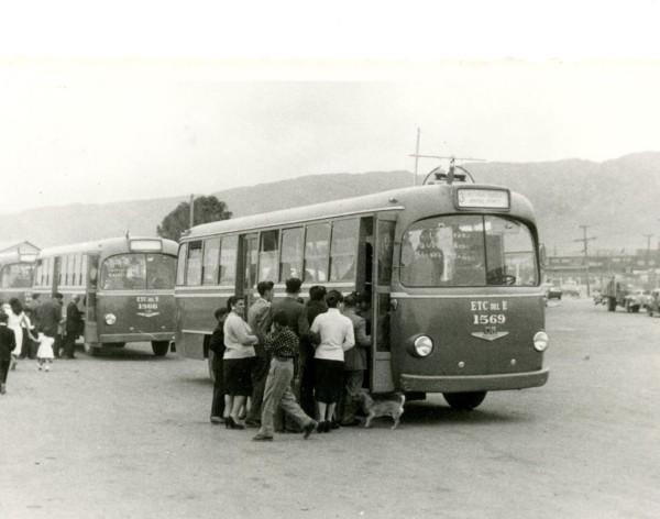 Buses OM en Antofagasta, c. 1960.