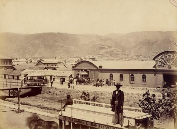 Depósito de la empresa del Ferrocarril Urbano en Av. Delicias S. XIX.