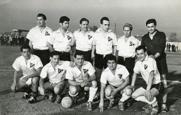 Club deportivo Victoria Tranviario, del depósito de calle Victoria, c.1955