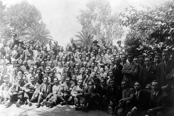 Trabajadores de la maestranza de tranvías av. Brasil, 1930