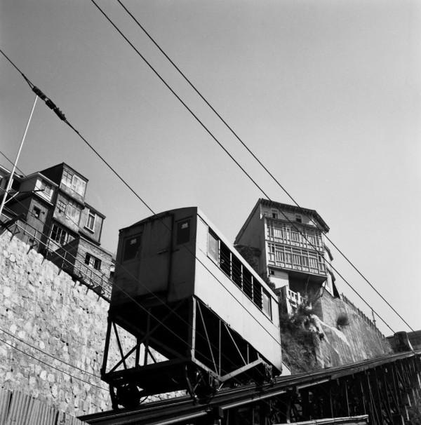 Ascensor del cerro Artillería c. 1950