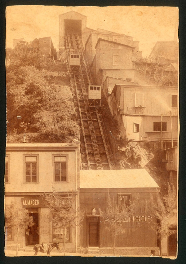 Ascensor del cerro Panteón c. 1900.