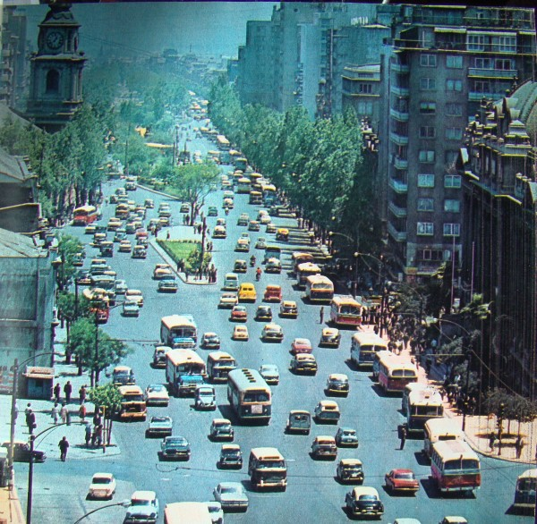Locomoción colectiva por Alameda, c1970