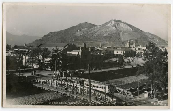 Tranvía hacia avenida Independencia, 1935.