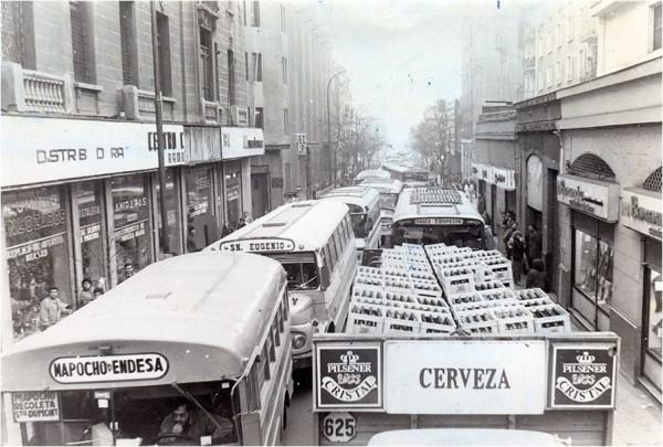 Congestión en calle San Pablo, 1989