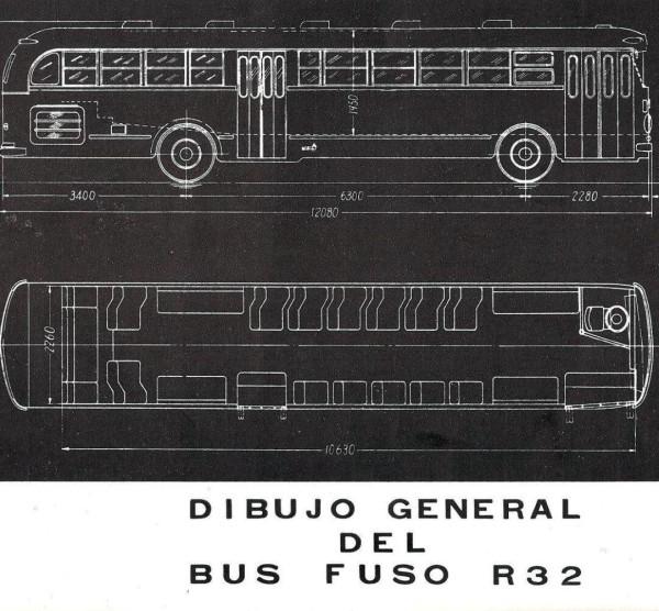 Dibujo del Fuso R32, c. 1955