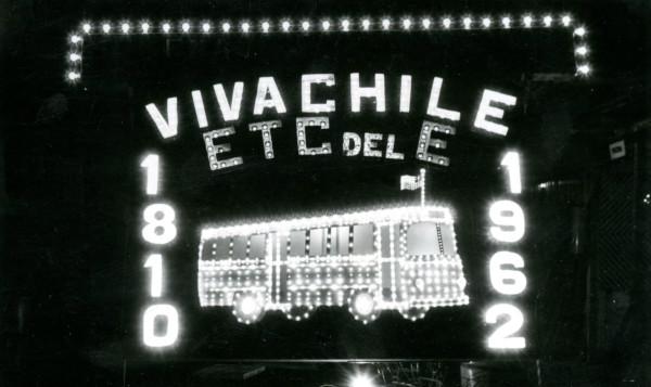 letrero luminoso de los trabajadores de la ETCE, 1962.